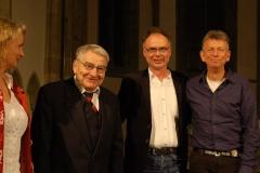 Langjährige Freunde und Weggefährten - Josef Röttger, A.H. und Thomas Reckmann, links im Bild Lebenspartnerin Astrid Jörgensen