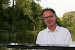 Diner en blanc im grünen Winkel - Andreas Hermeyer am Piano
