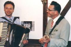 Andreas Hermeyer und Götz Alsmann auf dem Geburtstag von Botho Lucas